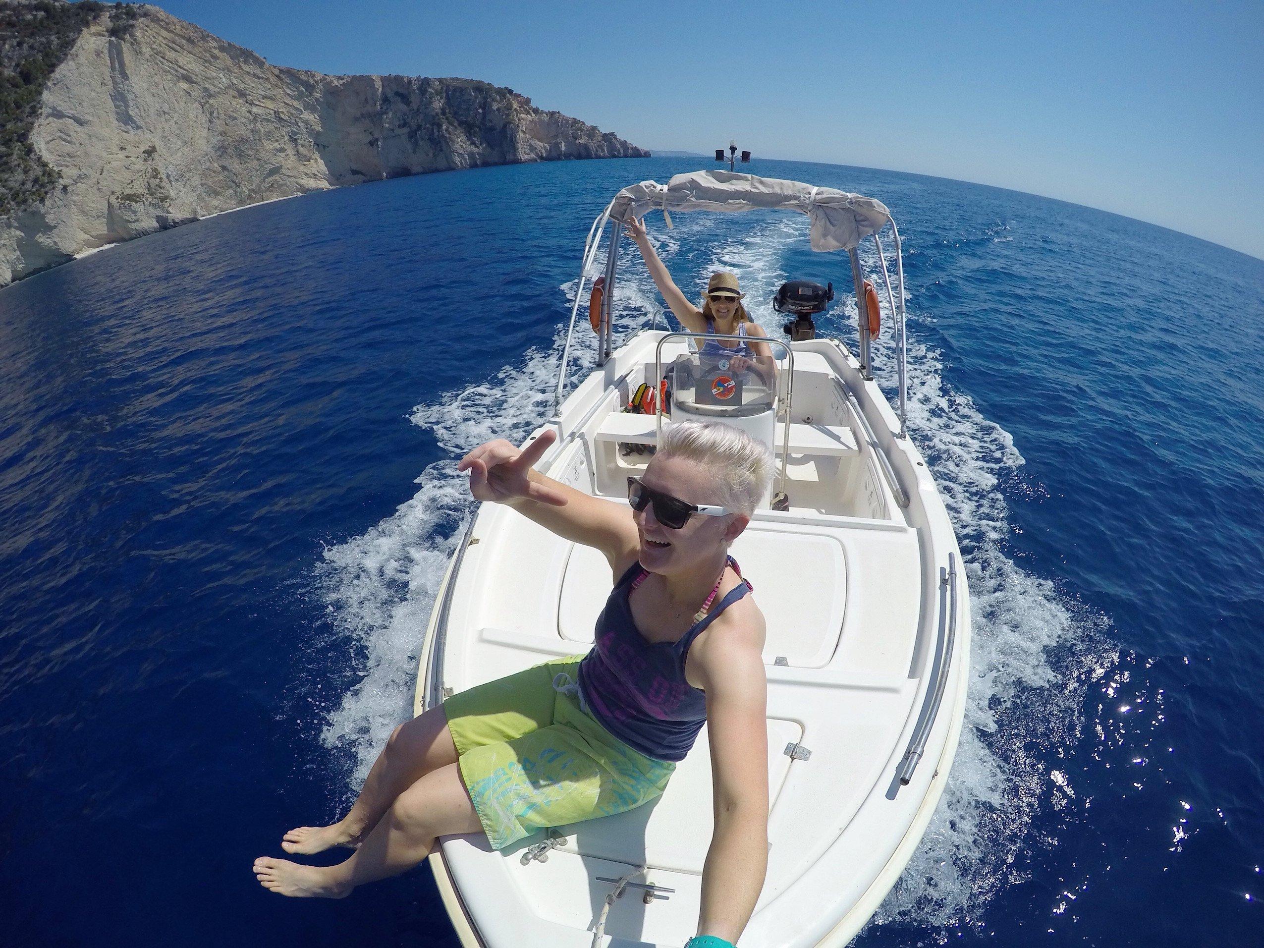 Captains boat hire, Zakynthos.