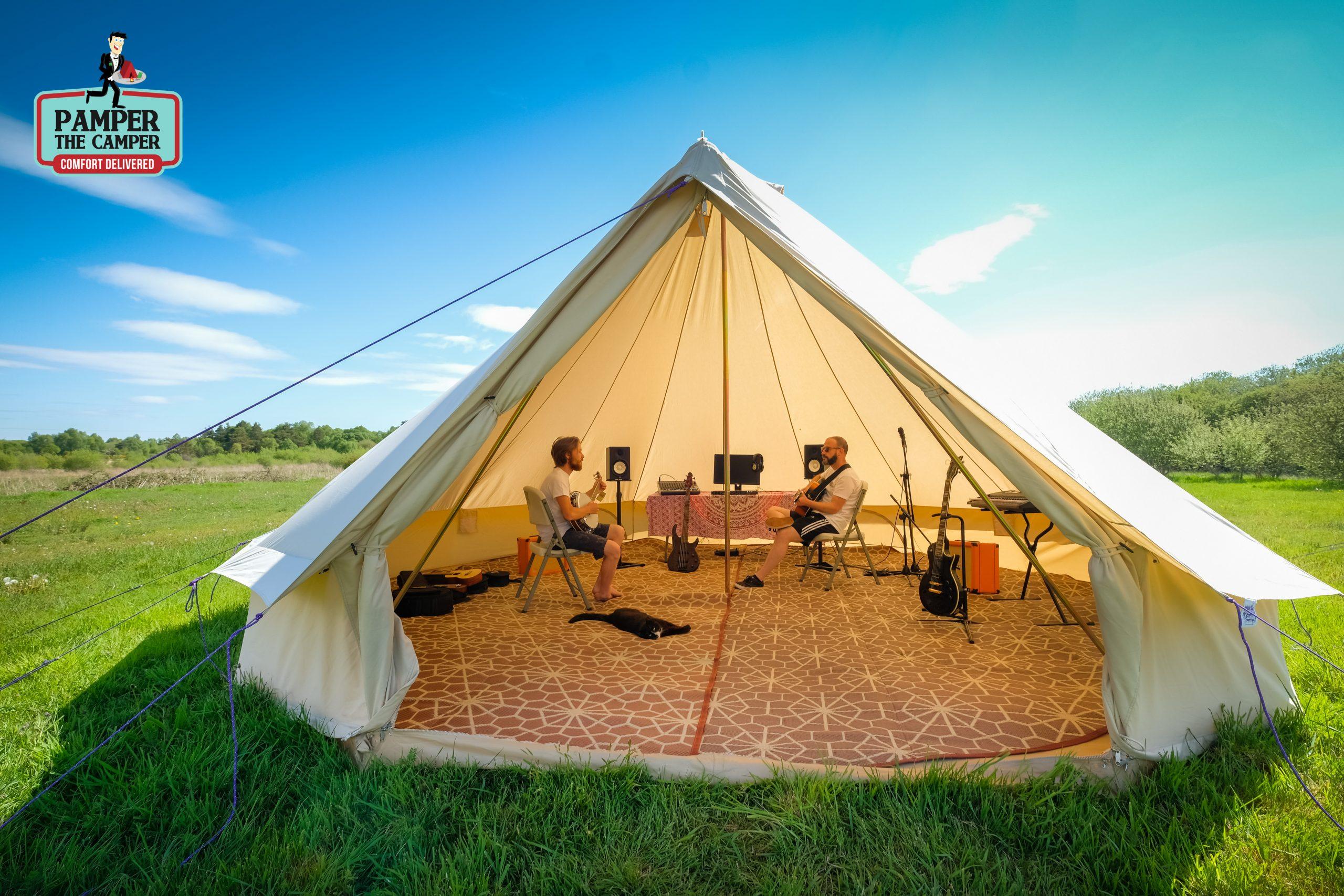 Pamper-the-camper tent session