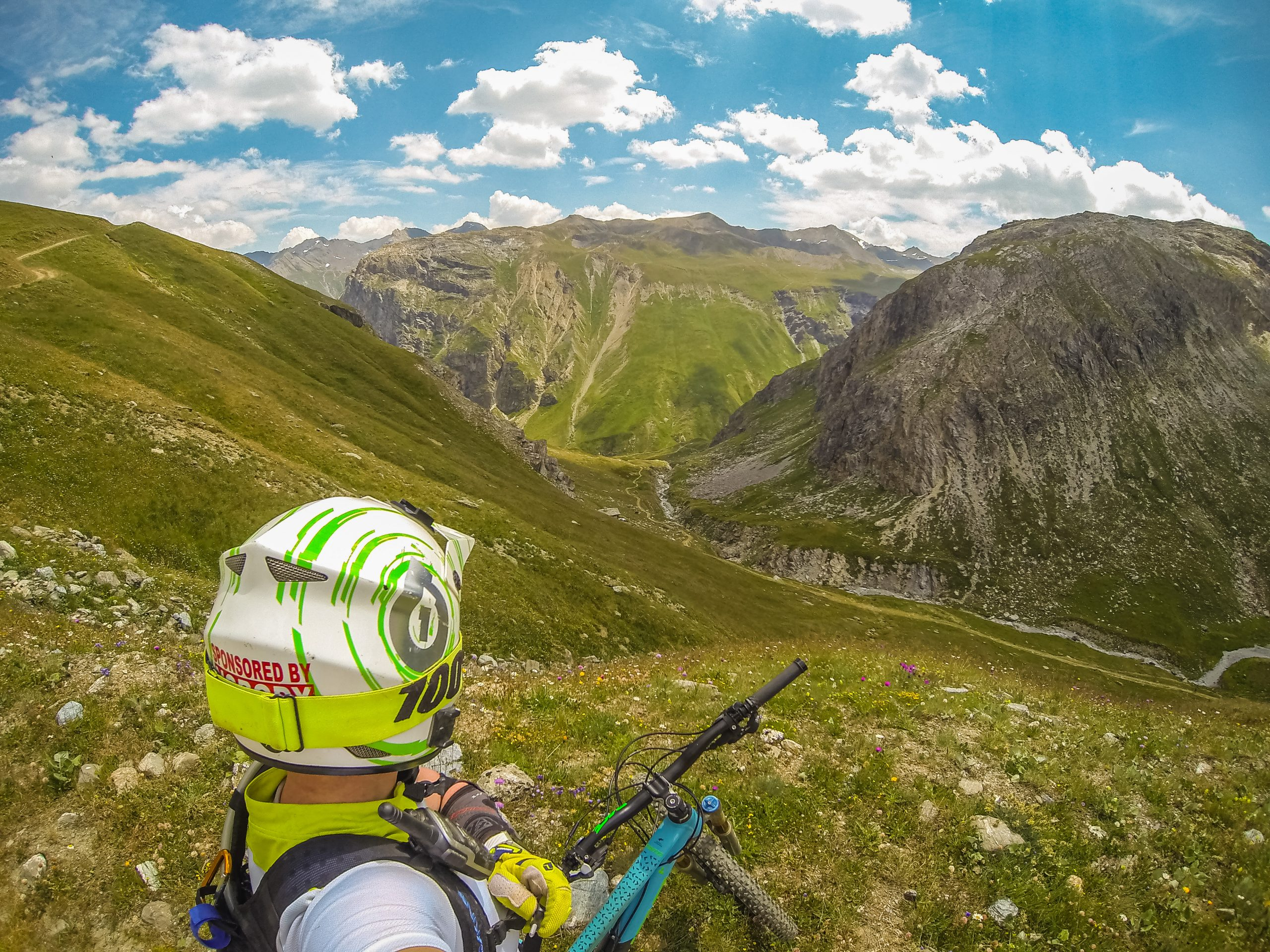 Fiona mountain biking