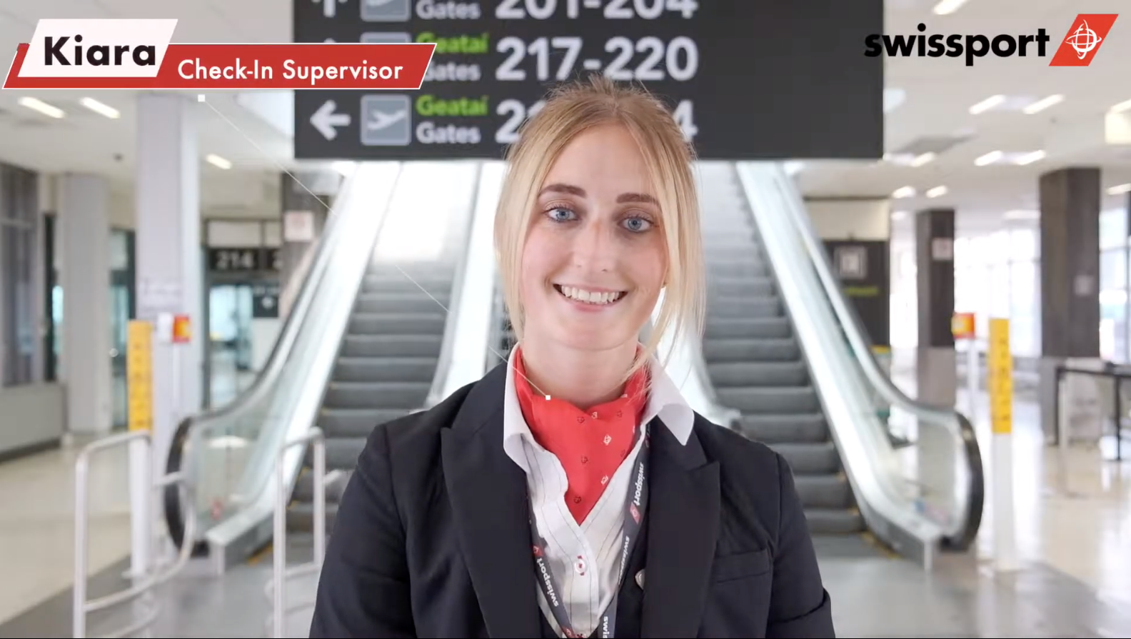 Swissport Check-in video Fiona Madden Photography